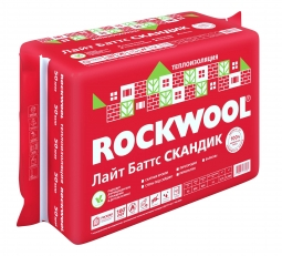 Базальтовый утеплитель Rockwool Лайт Баттс Скандик 800х600х100 мм / 6 пл.