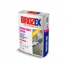 Штукатурка Brozex Профи Пласт GPM-51 гипсовая для машинного нанесения 30 кг