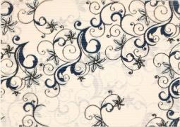 Декор Береза-керамика Азалия синий 25x35