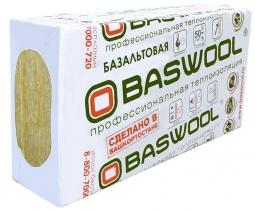 Минераловатный утештитель Baswool Вент Фасад 80 1200х600х50 мм / 6 шт.
