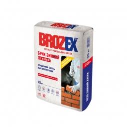 Кладочная смесь Brozex Брик Зимний М-150W высокопрочная 25 кг