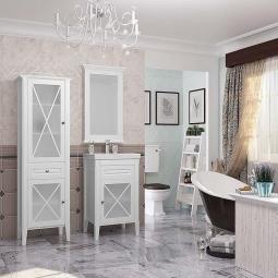 Комплект мебели Opadiris Палермо 50 Белый матовый