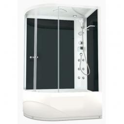 Душевая кабина Domani Spa Delight 128R high 1200х800х2180 прозрачное стекло, черная панель