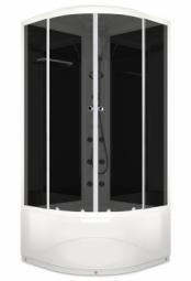 Душевая кабина Domani Spa Delight 110 height 1000х1000х2180 матированное стекло, белая панель, Б/Э