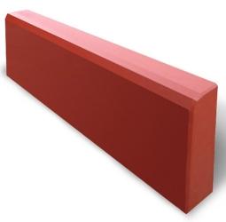 Бордюр Тротуарный Вибролитой 1000х200х75 Красный
