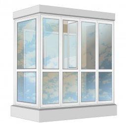 Остекление балкона ПВХ Veka в пол с отделкой ПВХ-панелями с утеплением 2.4 м Г-образное