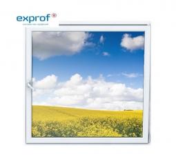 Окно ПВХ Exprof 600х600 мм одностворчатое О 2 стеклопакет