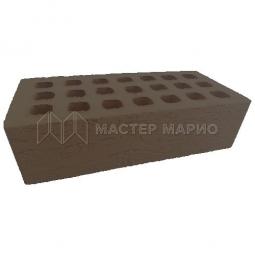 Кирпич лицевой керамический «Коричневый» «Рельеф» пустотелый утолщенный М150