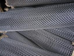 Сетка рабица d=1,6 мм, ячейка 50x50 мм, 2,0x10,0 м, оцинкованная