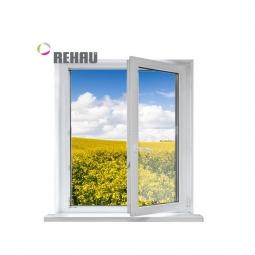 Окно ПВХ Rehau 600х600 мм одностворчатое ПО 1 стеклопакет