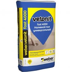 Наливной пол Weber.Vetonit Fast 4000 универсальный 20 кг